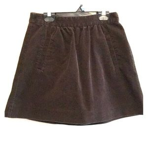 J Crew brown skirt size 2